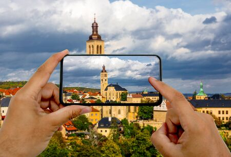 photo by phone. Architecture Kutna Hora , Czech Republic
