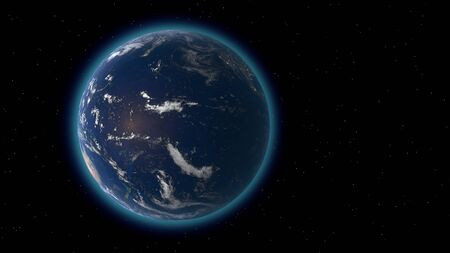 Flying over the earth's surface, 3D rendering Фото со стока - 132024130