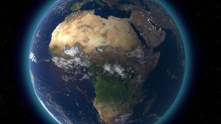 Survoler la surface de la terre, rendu 3D
