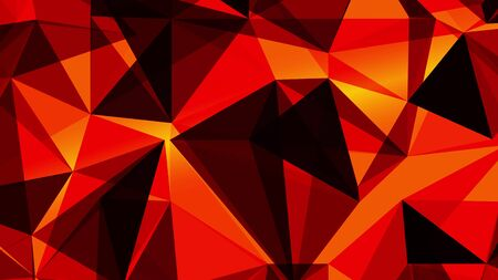 Abstract 3d geometric background. Geometric surface in motion