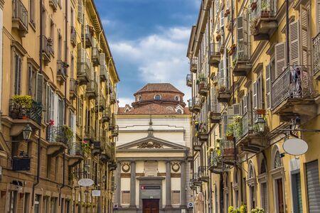 The beautiful cityscape of Turin, the beautiful architecture of Turin. Фото со стока