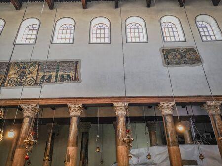Bethlehem, Palestine - November 2019: Basilica of the Nativity of Christ