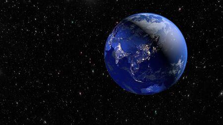Flying over the earth's surface, 3D rendering. Reklamní fotografie