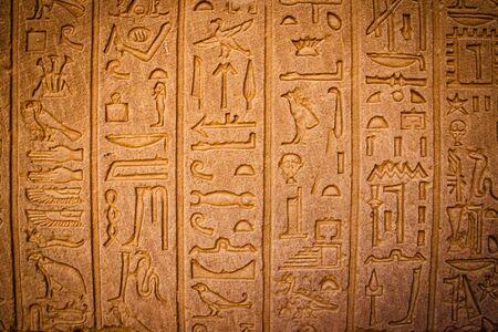 Ancient Egyptian writing, Egyptian hieroglyphs.