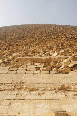 Pink Pyramid - the northern pyramid of Pharaoh Snofru in Dakhshur, XXVI century BC