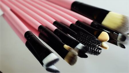 a set of new cosmetic makeup brushes. Standard-Bild