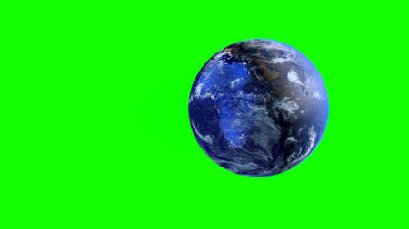 Planet earth on a green screen. Фото со стока