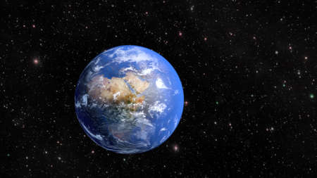 Planet Earth and continent Africa.