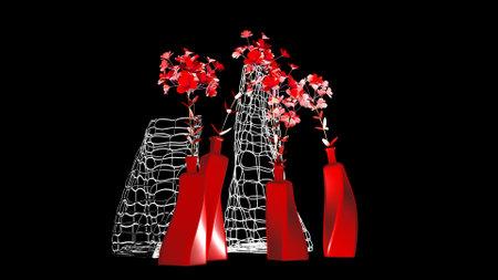 Vase of flowers on a dark