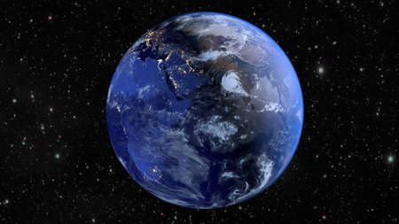 Planet Earth and continent Africa. 3D rendering