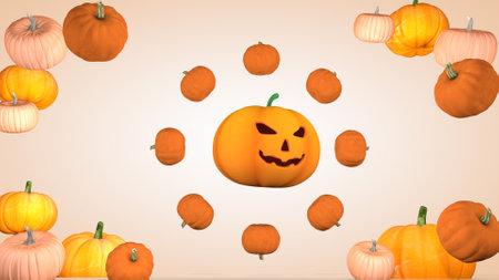 Halloween holiday concept with pumpkins Фото со стока