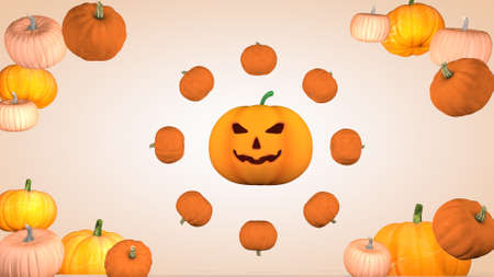 Halloween holiday concept with pumpkins.