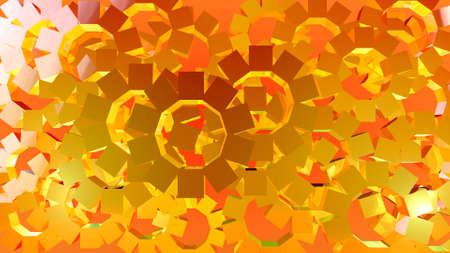 Abstract graphic of rotating cubes