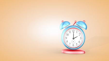 Cute alarm clock isolated on beige Фото со стока