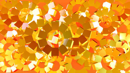 Abstract of graphic rotating cubes