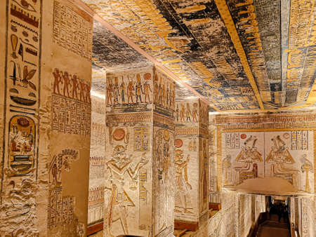 KV9, Kings' Valley No. 9, Tomb of Memnon, tomb of the pharaohs from the 20th dynasty: Ramses V and Ramses VI