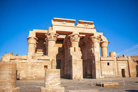 The ruins of the ancient temple of Sebek in Kom - Ombo, Egypt