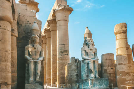 Ruins of the Egyptian Karnak Temple, the largest open-air museum in Luxor.