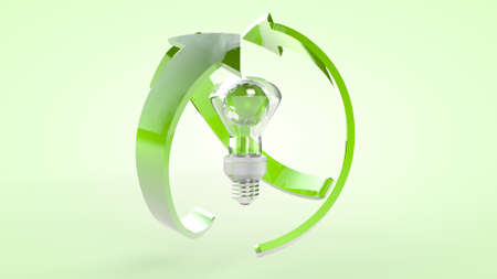 The concept of green production and ecological use of energy. 3D rendering