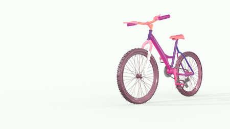 Bright bike, endless bike traffic. 3D rendering