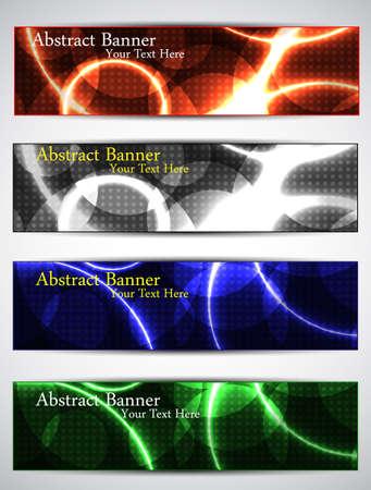 set neon banners