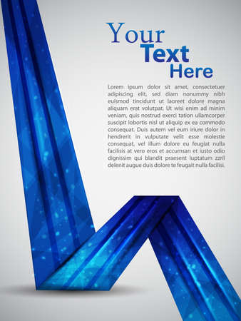 blue abstract template  vector illustration Illustration