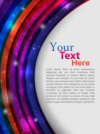 colorful abstract template  vector illustration