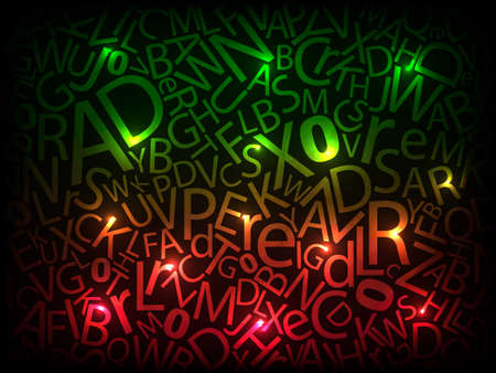 Neon abstract background  illustration