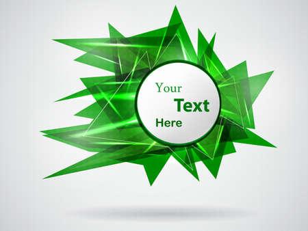 green abstract card illustration Stock Vector - 13905331