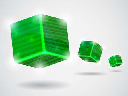 green abstract card illustration Illustration