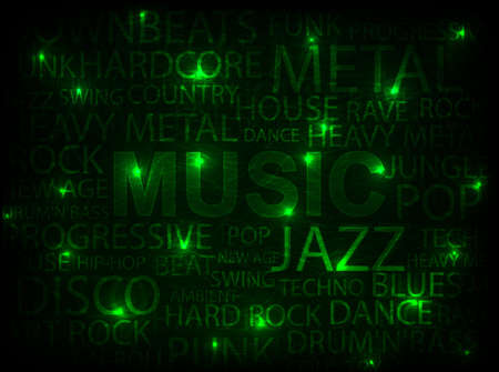 green music abstract background illustration Vector