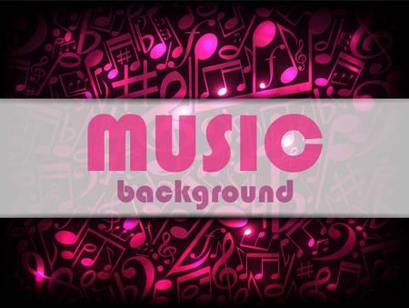 music neon card illustration