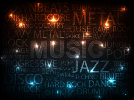 music abstract background illustration Illustration