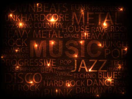 music style, background illustration