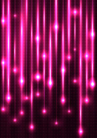 pink neon card illustration