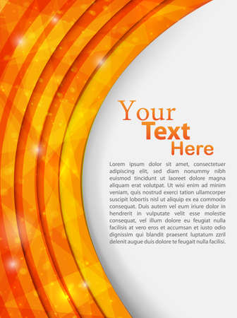 orange abstract template illustration