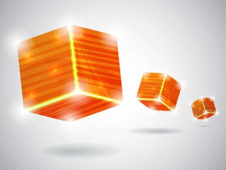 orange abstract card illustration