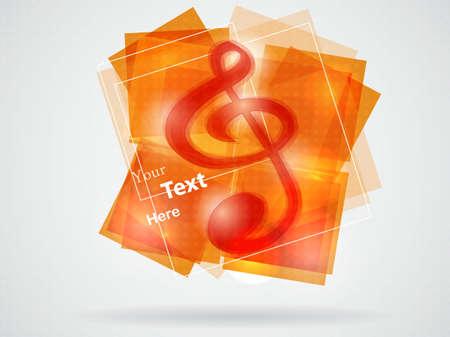 abstract treble clef illustration