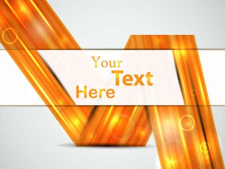 perspective orange card illustration