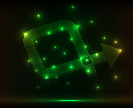 green abstract arrow. vector illustration