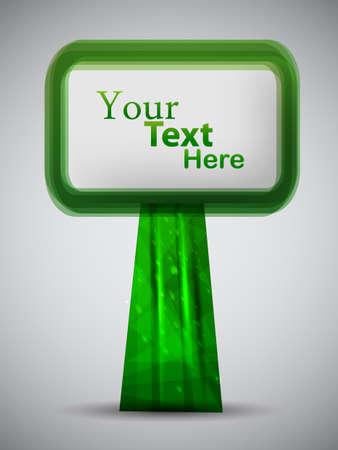 green vector poster. vector illustration