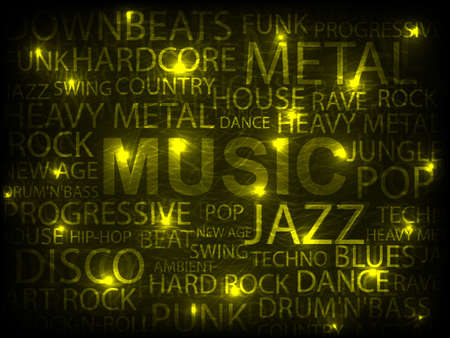 yellow music abstract background. vector illustration Stock Vector - 14129413
