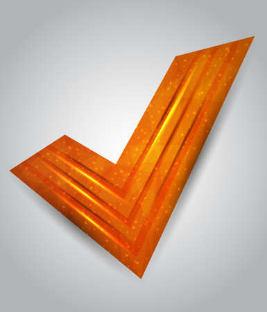 orange abstract checkmark. vector illustration
