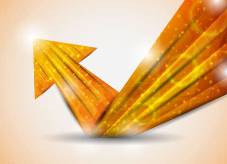 orange abstract arrow. vector illustration Illustration