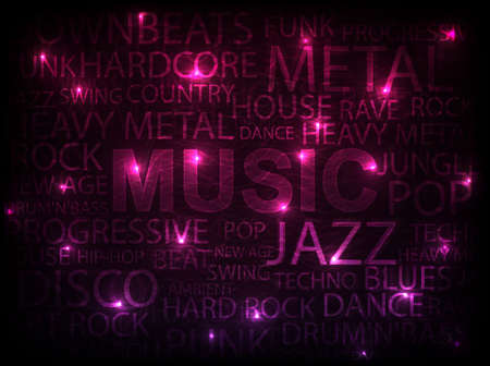 pink music abstract background  vector illustration Vector