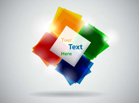 abstract colorful template illustration