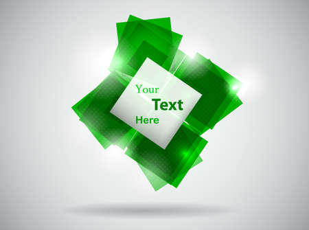 abstract green template illustration