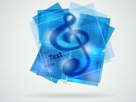 blue treble clef illustration