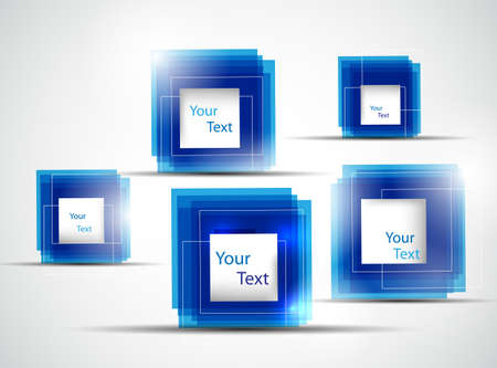 blue abstract frames illustration Illustration