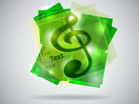 green treble clef illustration
